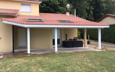 Extension de toiture pour abri terrasse !