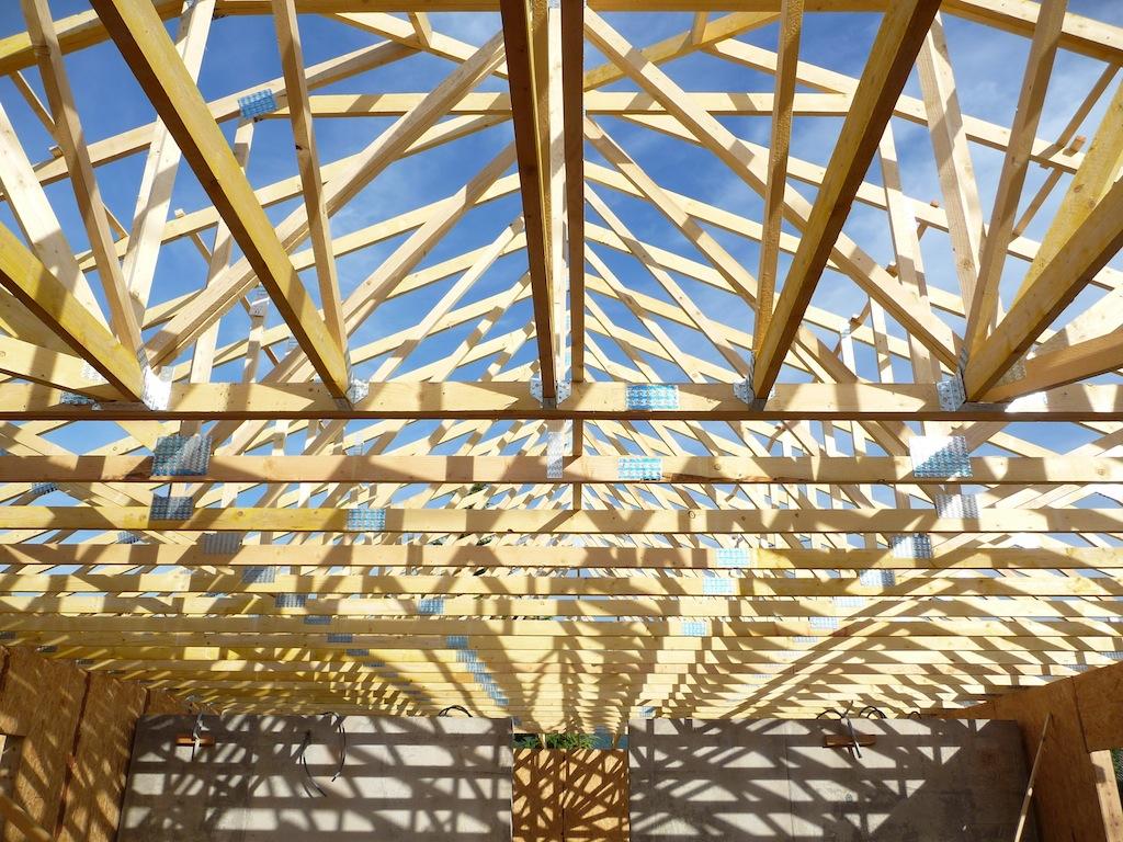 charpente en bois toiture